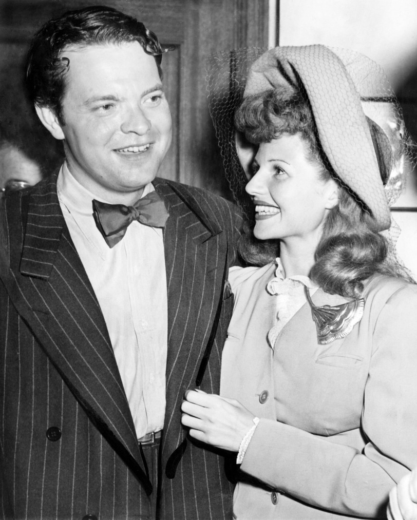 Shown from left: Director Orson Welles, Rita Hayworth, circa 1943